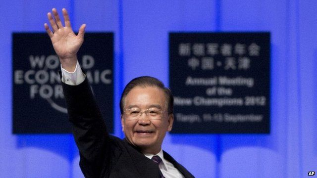 Chinese Premier Wen Jiabo at WEF meeting in Tianjen
