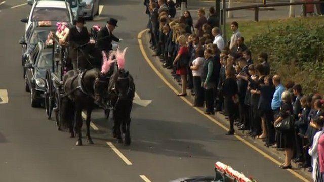 Tia's funeral procession