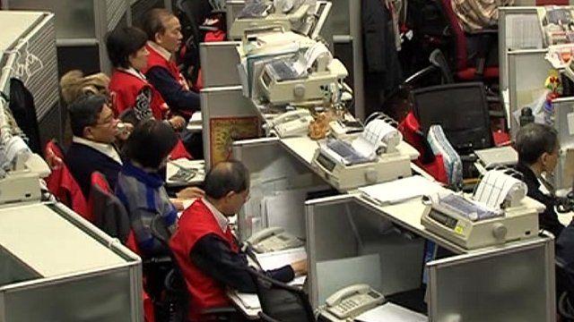 Hong Kong stock exchange traders
