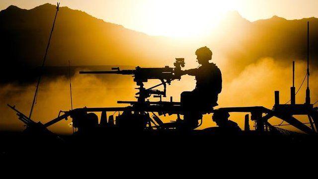 British soldier in Afghanistan.
