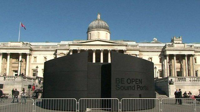 BE OPEN Sound Portal in Trafalgar Square