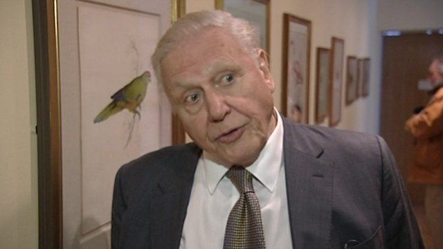 Sir David Attenborough at the Lear exhibition