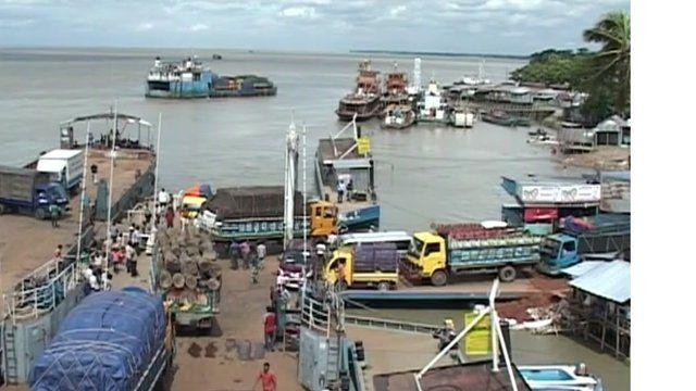 River crossing in Bangladesh