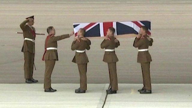 Repatriation of dead soldier