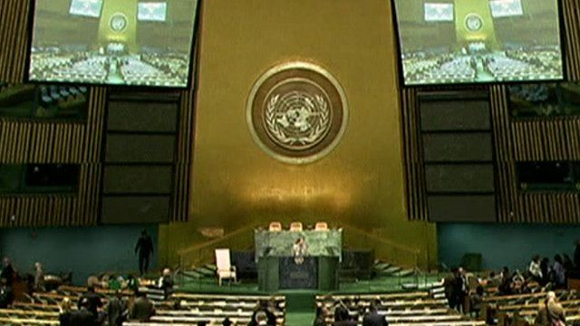 67th UN General Assembly podium