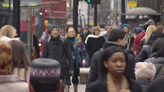 Shoppers in London's West End