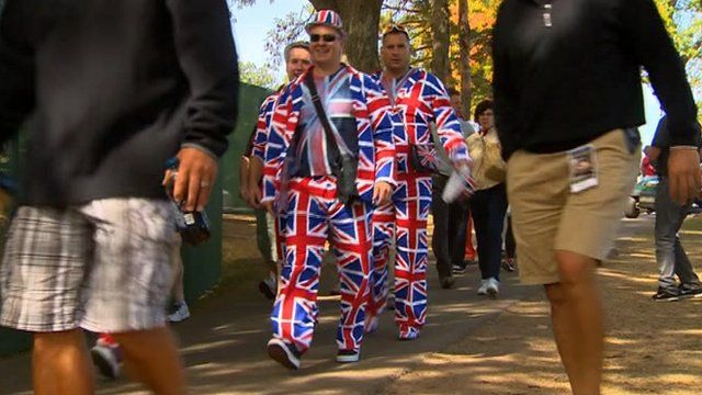 British golf fans at the Ryder Cup in Chicago