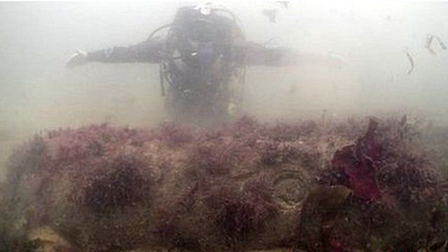 The device underwater at the mouth of the Helford. Pic: Mark Milburn