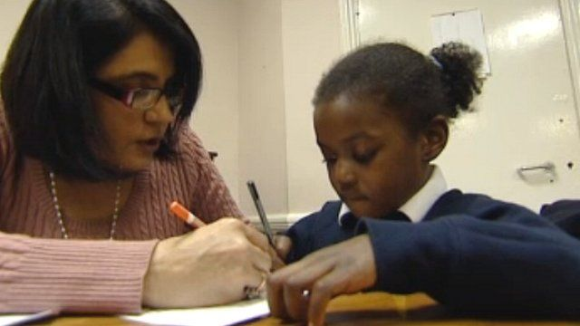 Private tutor with a schoolgirl