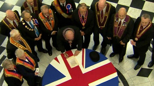 Re-enactment of the signing of the Ulster Covenant