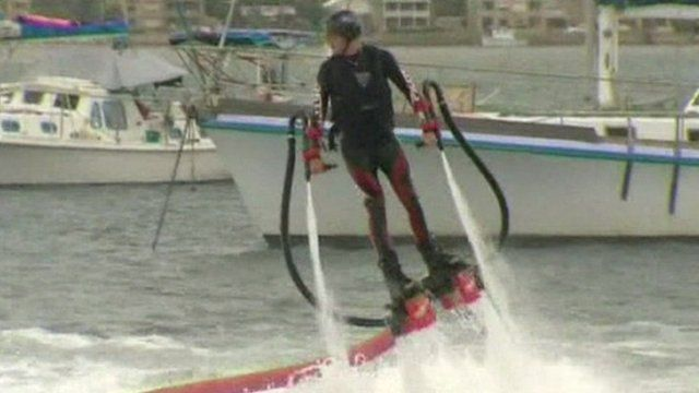 Man on a flyboard