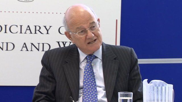 The Lord Chief Justice, Lord Judge