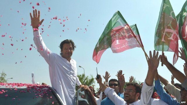 Imran Khan leads drone protest