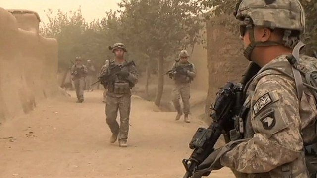 ISAF soldiers in Afghanistan