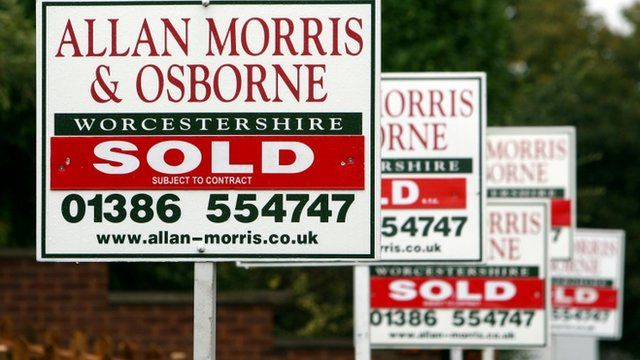 For sale boards outside houses
