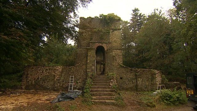 The mausoleum at Pentillie