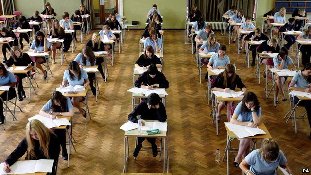 students taking GCSEs