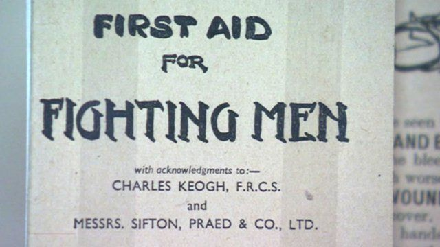 Wartime first aid brochure