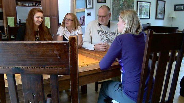 Family and the BBC's Lorna Gordon