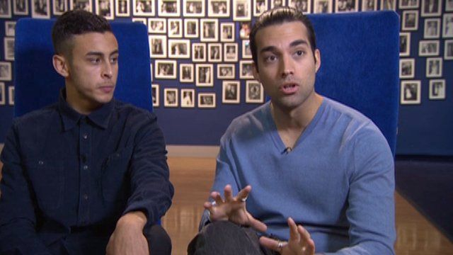 Actors Fady Elsayed (left) and James Floyd who star in My Brother The Devil