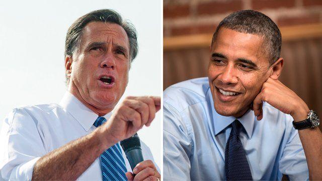 Composite image of Mitt Romney and Barack Obama