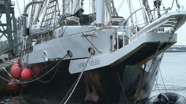 The ship Lord Nelson
