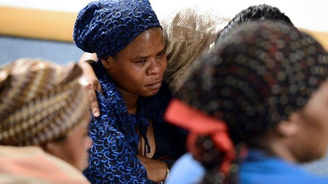 Relatives of those killed during the unrest at Marikana