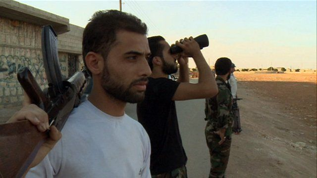 Free Syrian Army rebels in Marea