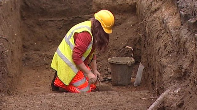 Excavating on the site of Northampton's medieval castle