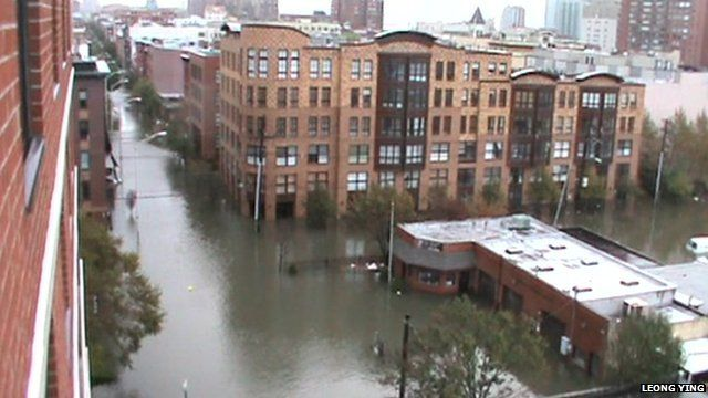 Flooding in Hoboken, New Jersey - courtesy Leong Ying