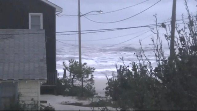 Hurricane Sandy hit the east coast of the US