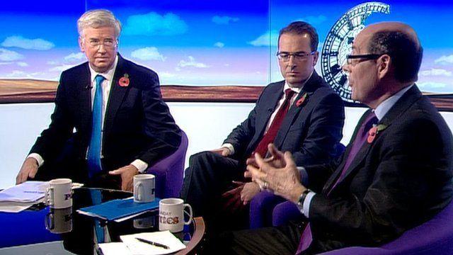 Michael Fallon, Owen Smith and Nick Robinson