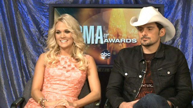 Carrie Underwood and Brad Paisley