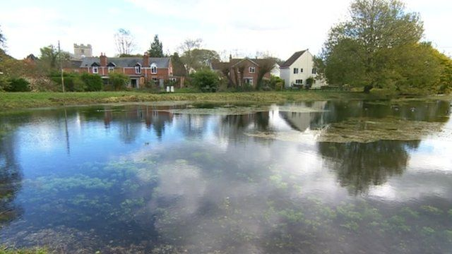 The lake in St Mary Bourne, Hampshire