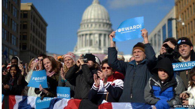 Obama supporters in Washington