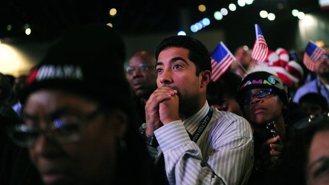 Americans watching vote results