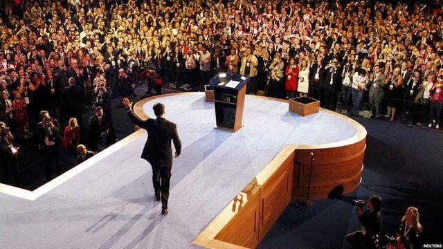 Republican presidential nominee Mitt Romney delivers his concession speech