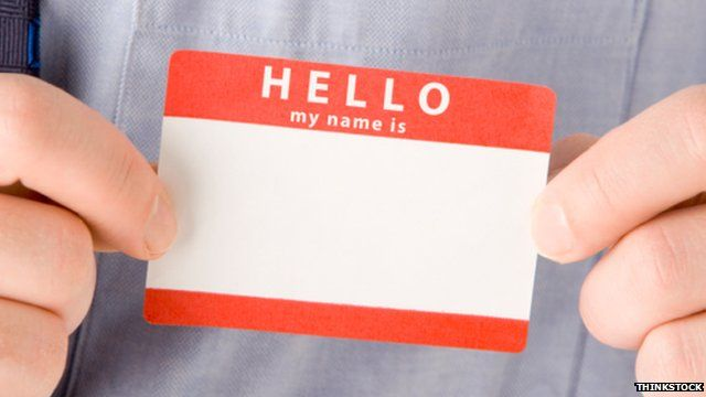 A name badge