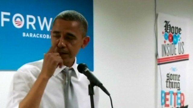 Watch President Obama get all emotional...