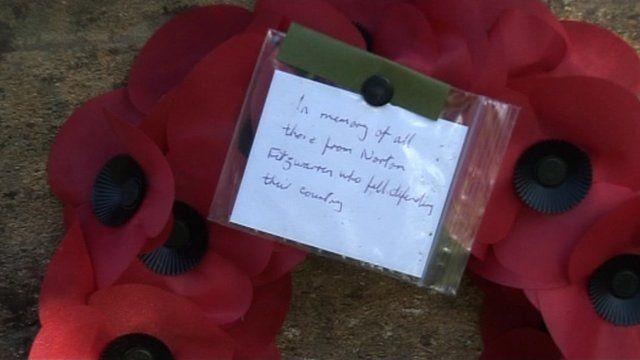 Poppy wreath in Somerset