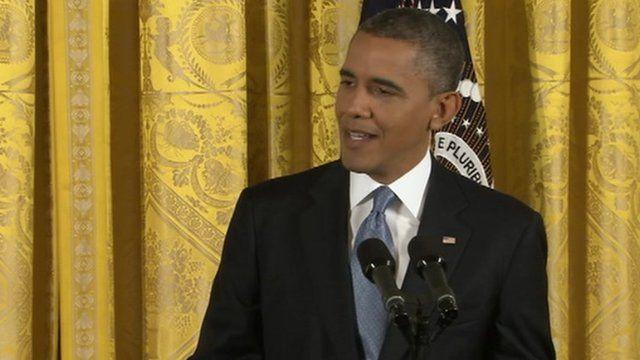 Barack Obama at a press conference 14 November 2012