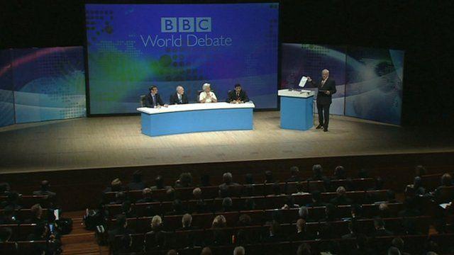 The World Debate audience