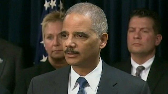 Attorney General Eric Holder from the Department of Justice