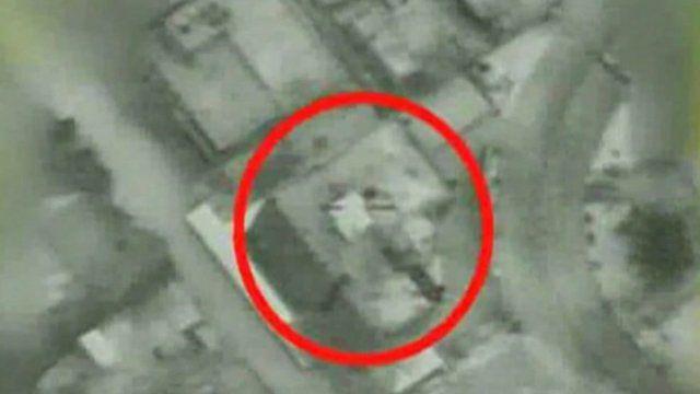 Israeli footage of an air strike