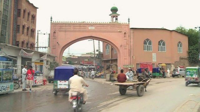 A gate of the city wall in Peshawar