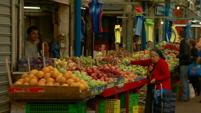 A market in southern Israel