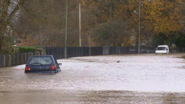 Flooding in Evesham, November 2012