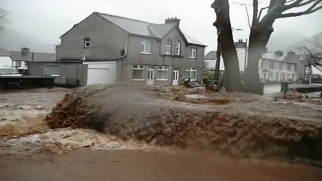 Viewer's video of flood water