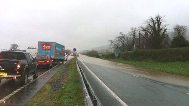 A55 flooding