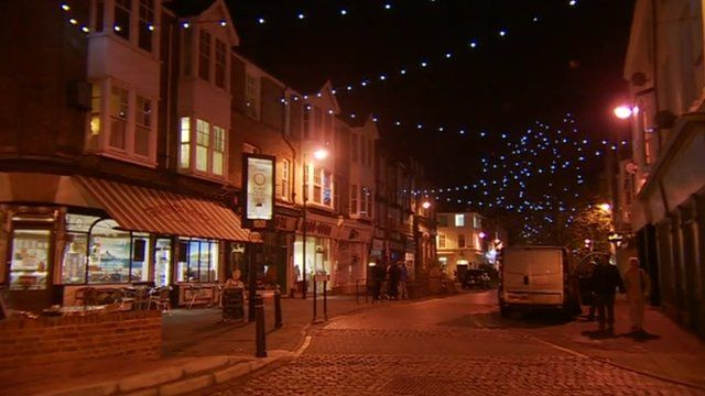 Festive lights in Herne Bay